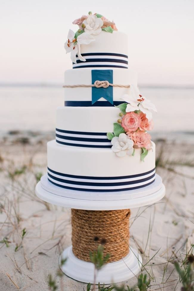 Nautical By Nature Ocean Inspired Wedding Cakes
