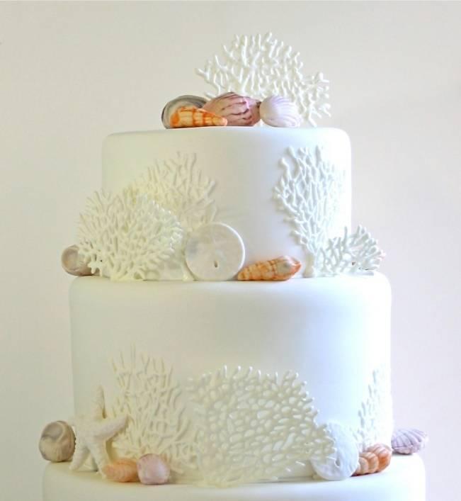 edible seashell wedding cake