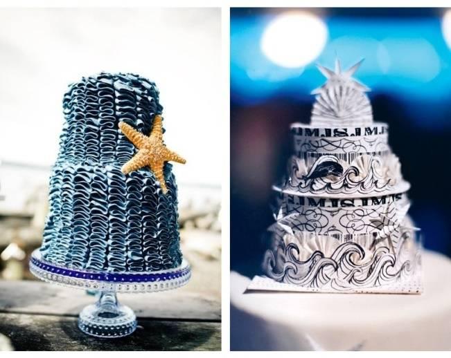 dark blue ocean cake