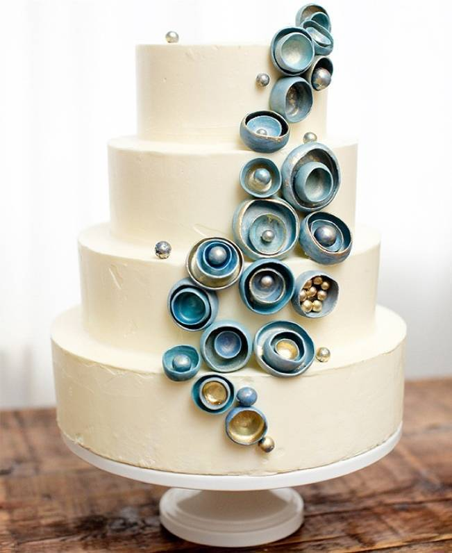 oyster pearl ocean cake