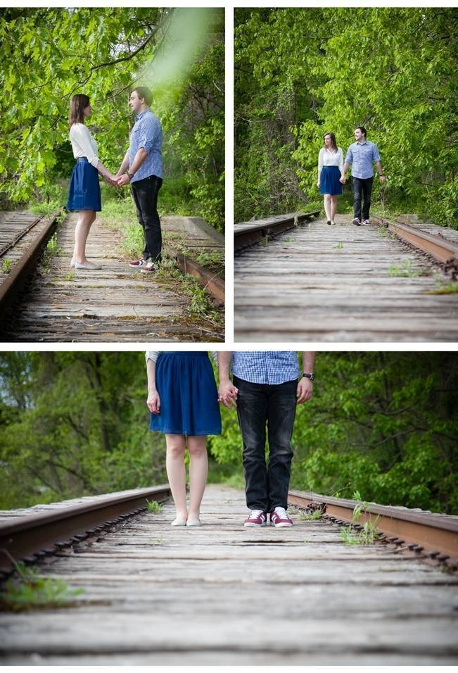 railroad tracks engagement shoot