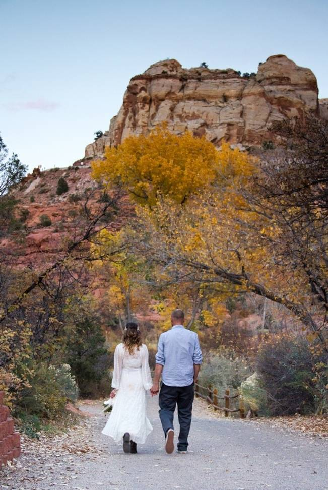 autumn desert wedding