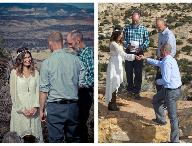 desert wilderness wedding