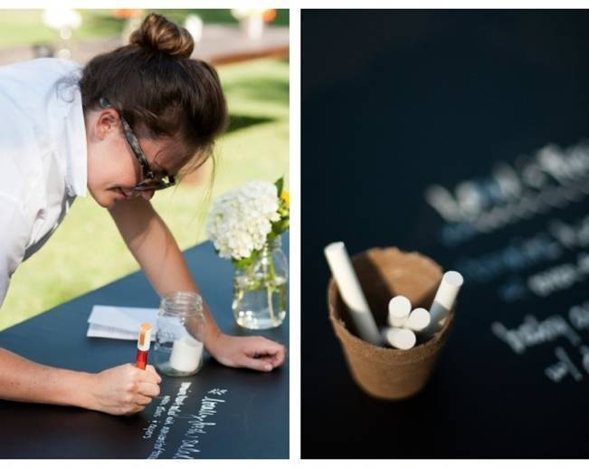 chalk board guest book