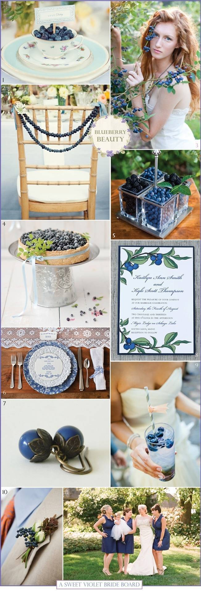 Wedding Inspiration Board #8: Blueberry Beauty