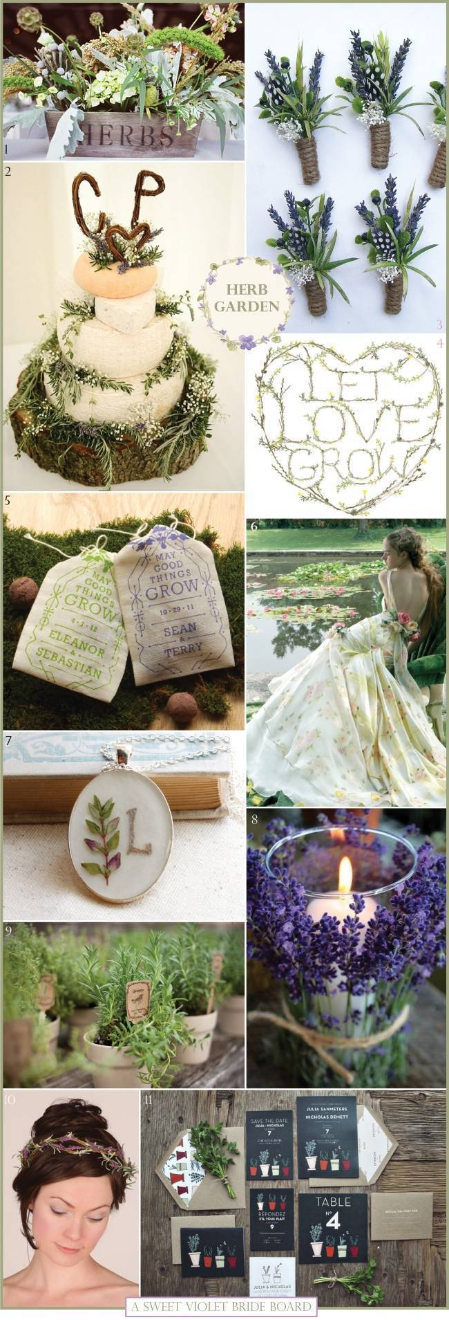 Wedding Inspiration Board #7: Herb Garden
