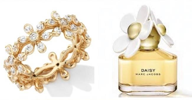 gold diamond daisy ring