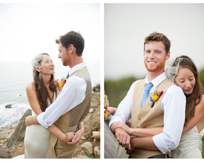 brown and blue groom