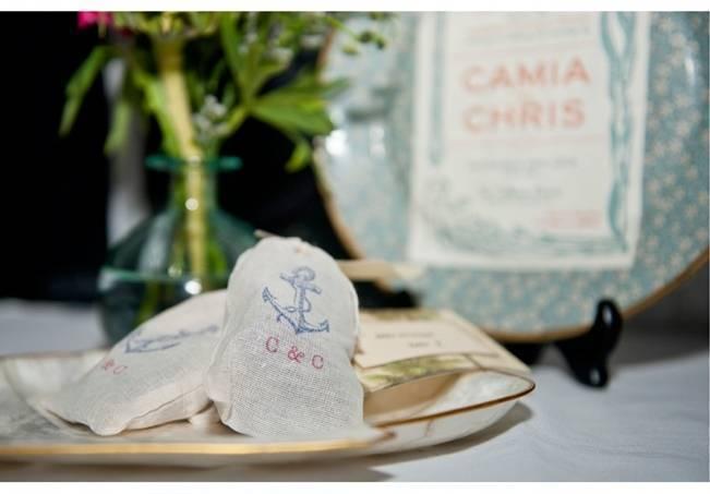 sea anchor wedding favor bags