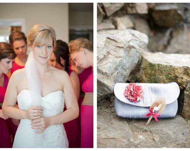fuchsia and silver wedding