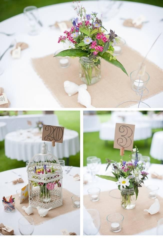 diy burlap wedding table decor