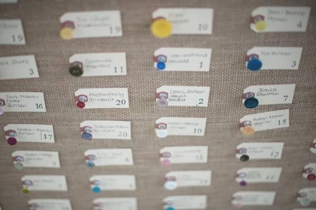 button board escort cards