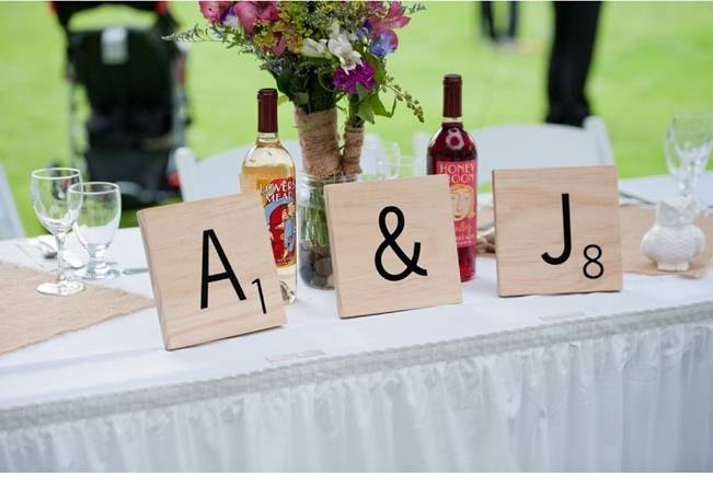 extra large scrabble tiles for wedding initials