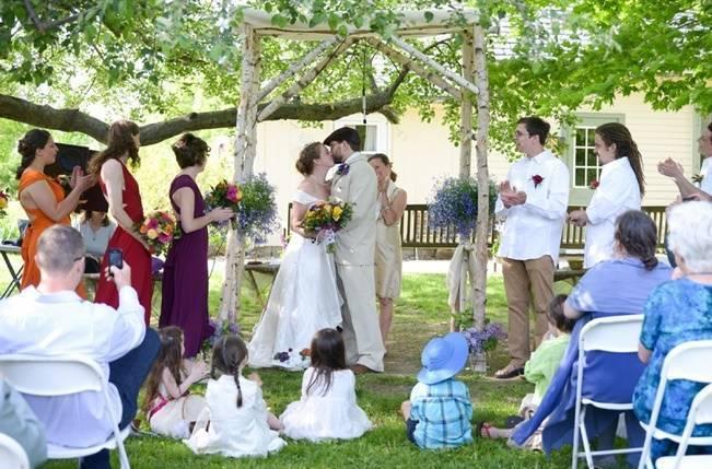 Eco Wedding at Woolman Hill {Dani Fine Photography} 13