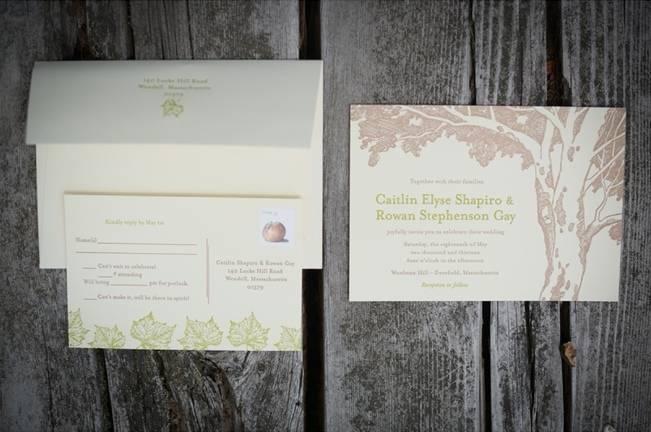 apple tree wedding invitations