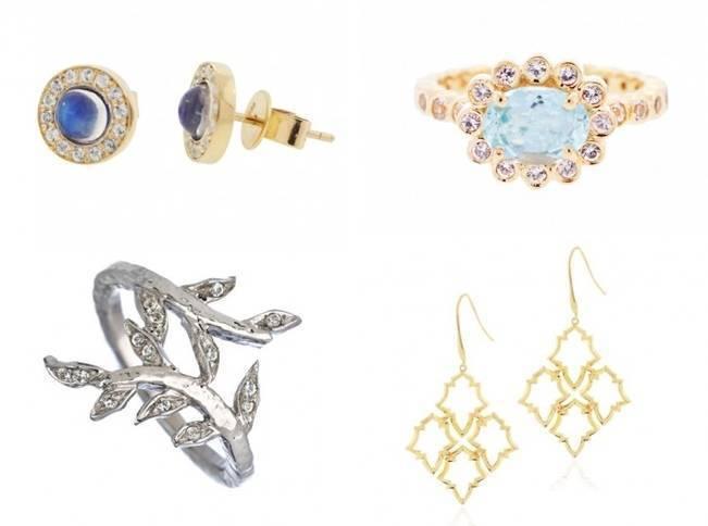 nature inspired bridal jewelry