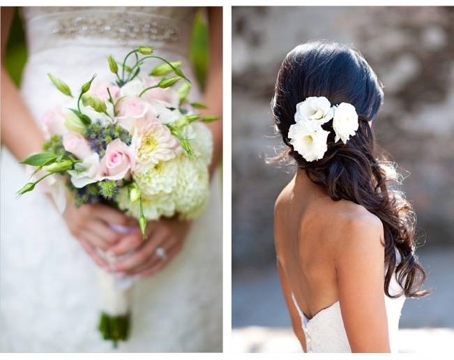 pink lisianthus bouquet