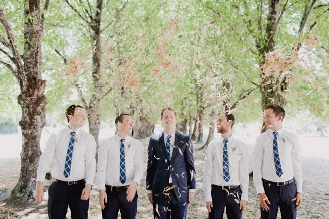 blue casual groomsmen