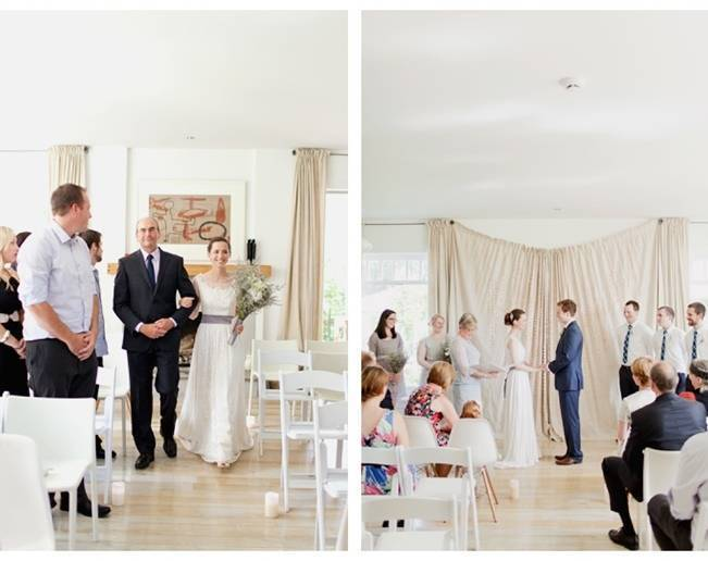simple home wedding