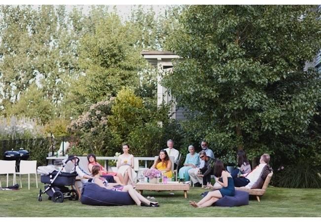 casual backyard wedding reception