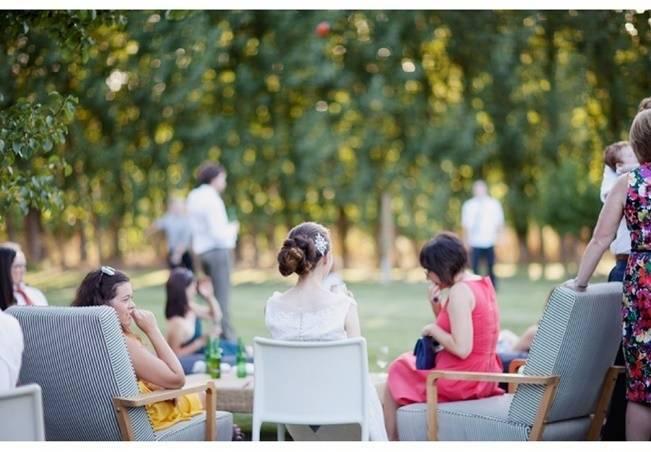 fun backyard wedding reception