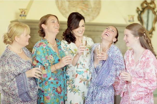 bridal bridesmaid bathrobes