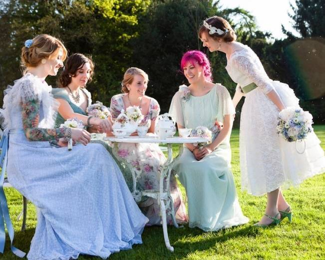 english vintage tea party wedding