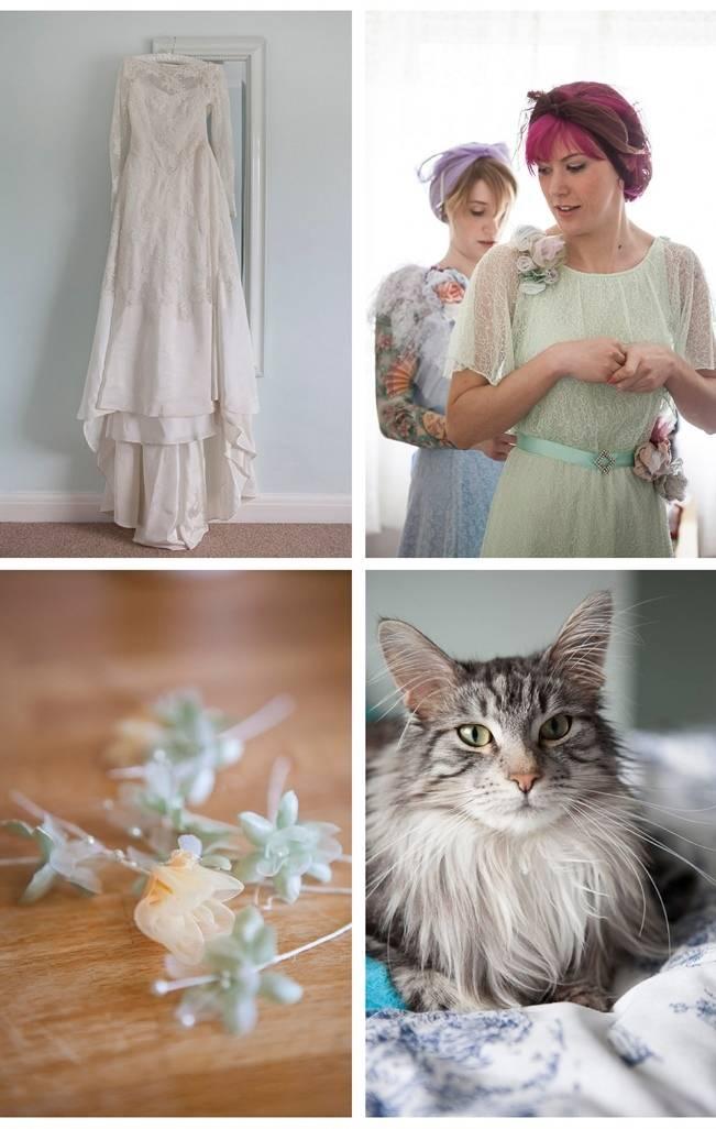 vintage 1940s wedding gown