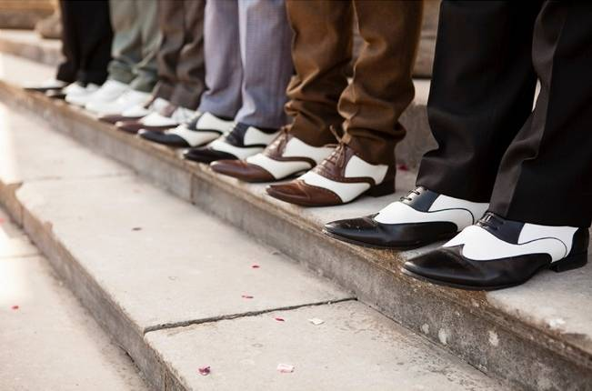 vintage groom shoes