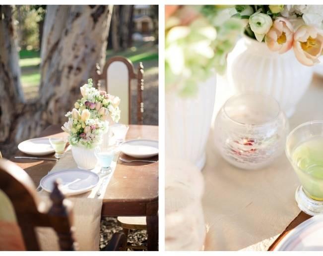 watercolor wedding table