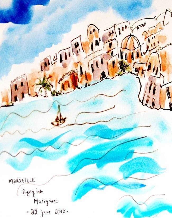 Postcards from Southern France: Watercolors by Elizabeth Hubbell