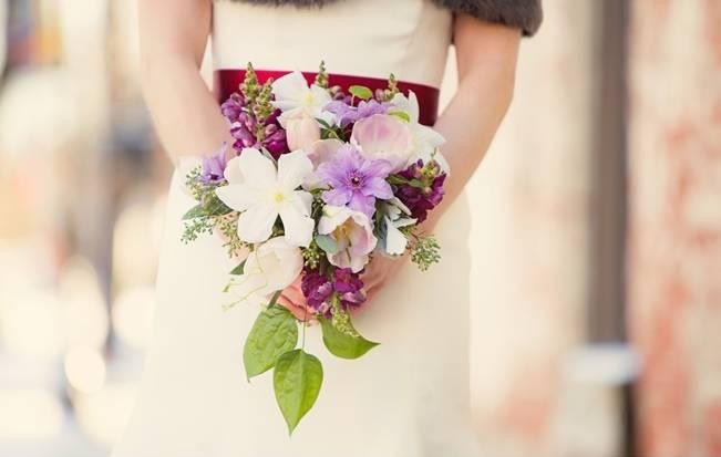 clematis bridal bouquet