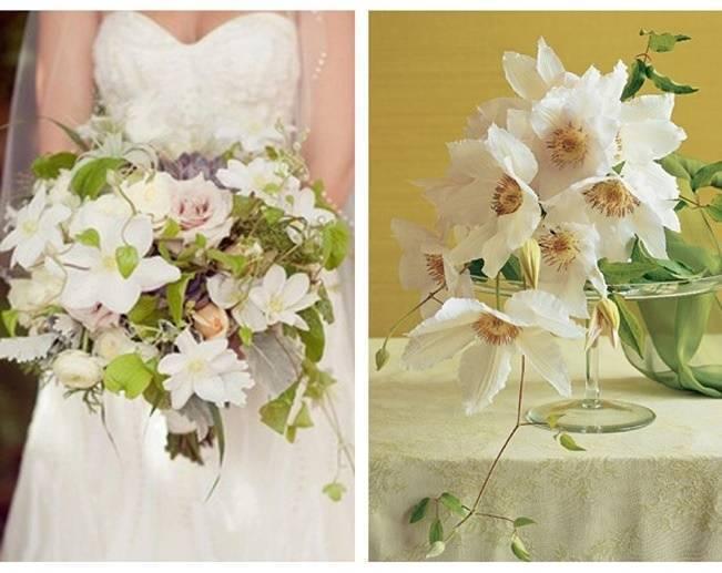 cascading clematis bouquet