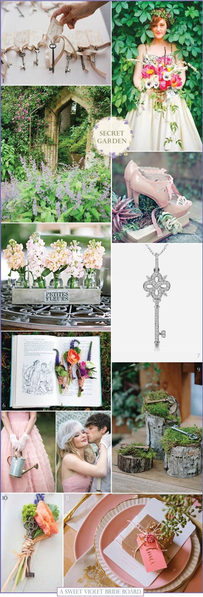 Wedding Inspiration Board #9: Secret Garden