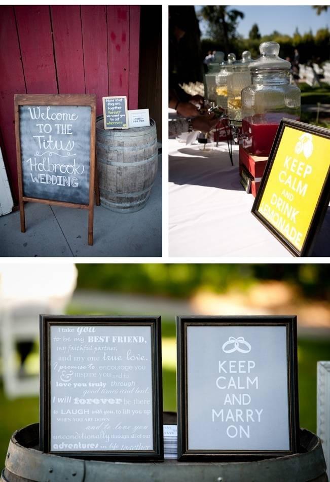 rustic chalkboard wedding signs