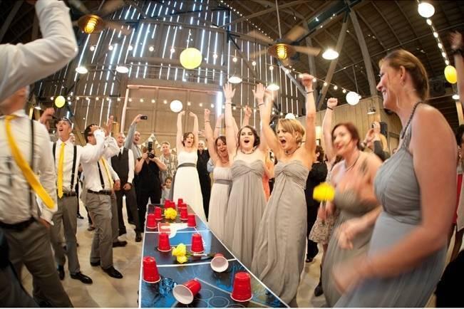 flip cup wedding reception drinking games