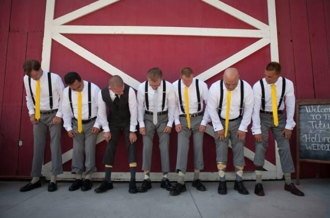 yellow ties for groomsmen