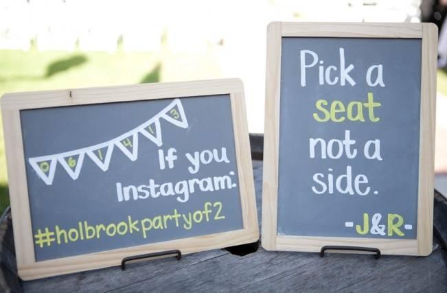chalk board wedding signs