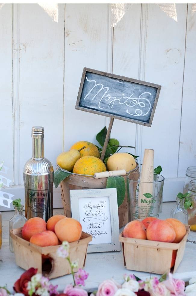 fresh fruit wedding mojitos