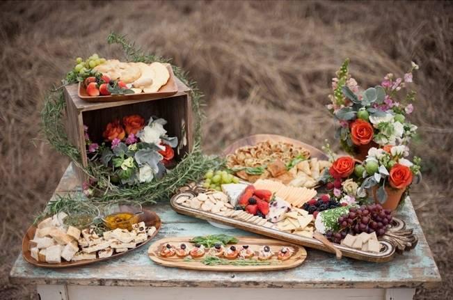 garden wedding catering