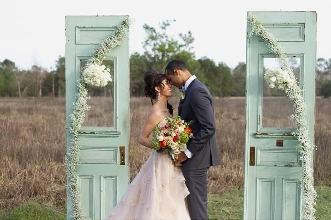 mint green blue wedding