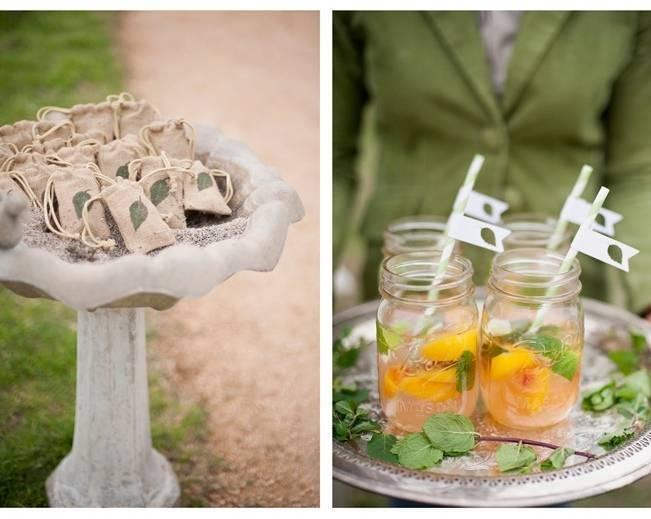 mason jar wedding drinks