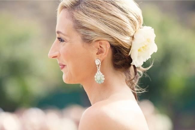 aqua wedding earrings
