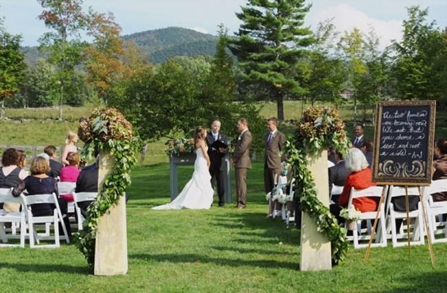 vermont outdoor wedding ceremony