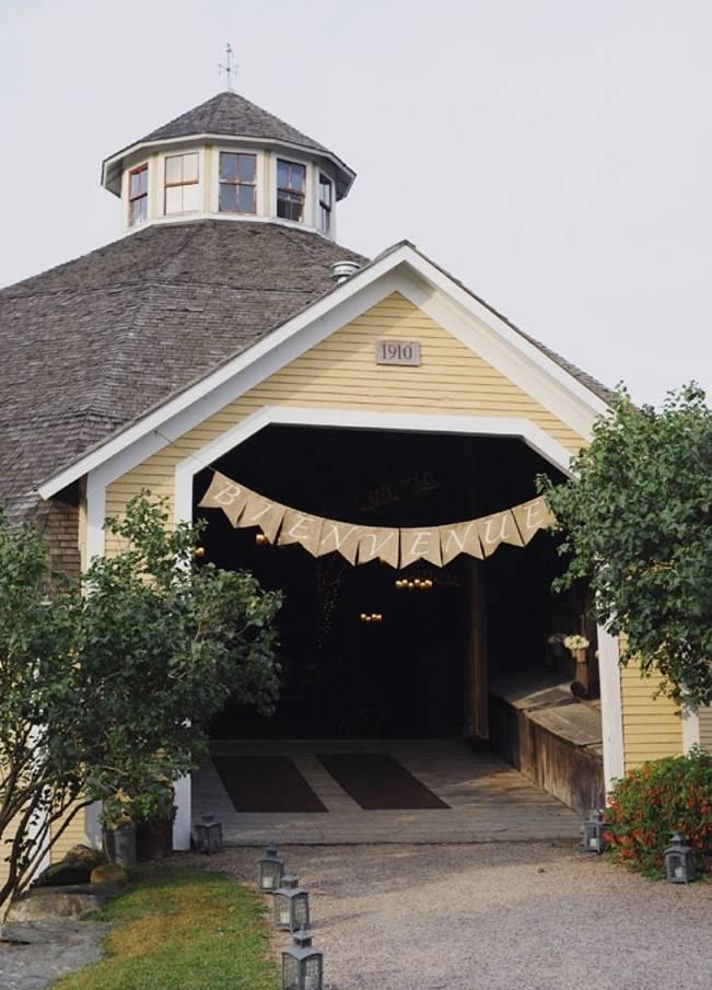 yellow round wedding barn vermont