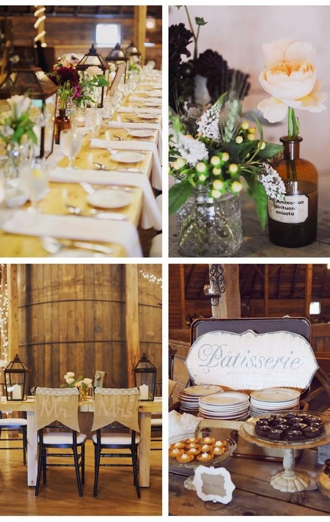 rustic vintage barn wedding decor