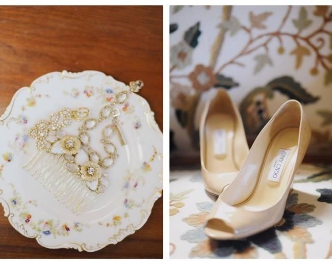 gold bridal comb