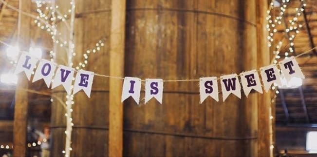 rustic burlap wedding banners