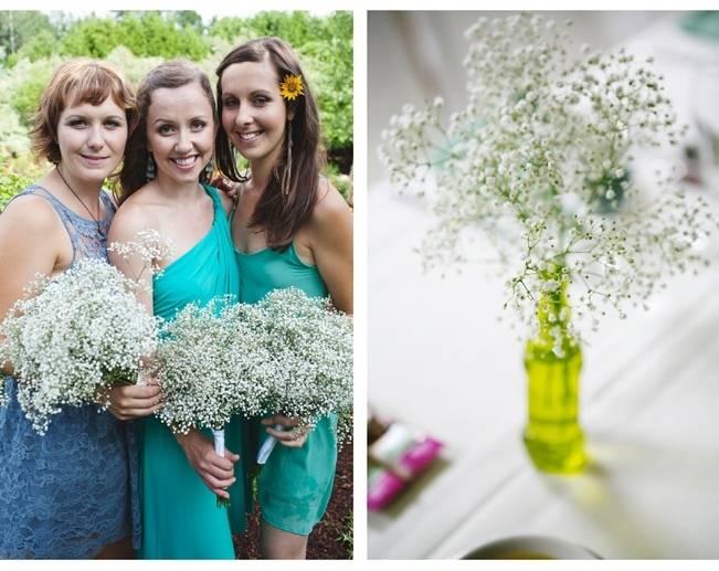 turquoise teal blue bridesmaid dresses