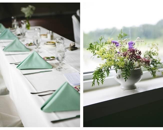 purple and sea green wedding